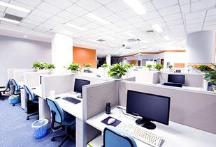 wnętrze dużego biura