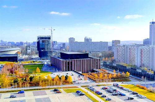 Bloki i parking w Katowicach