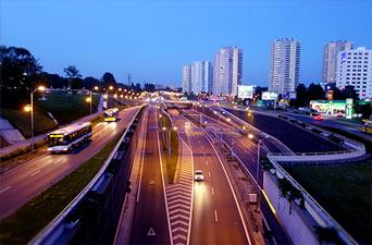 Katowice widok na ulicę